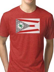 State Flag of Ohio Tri-blend T-Shirt