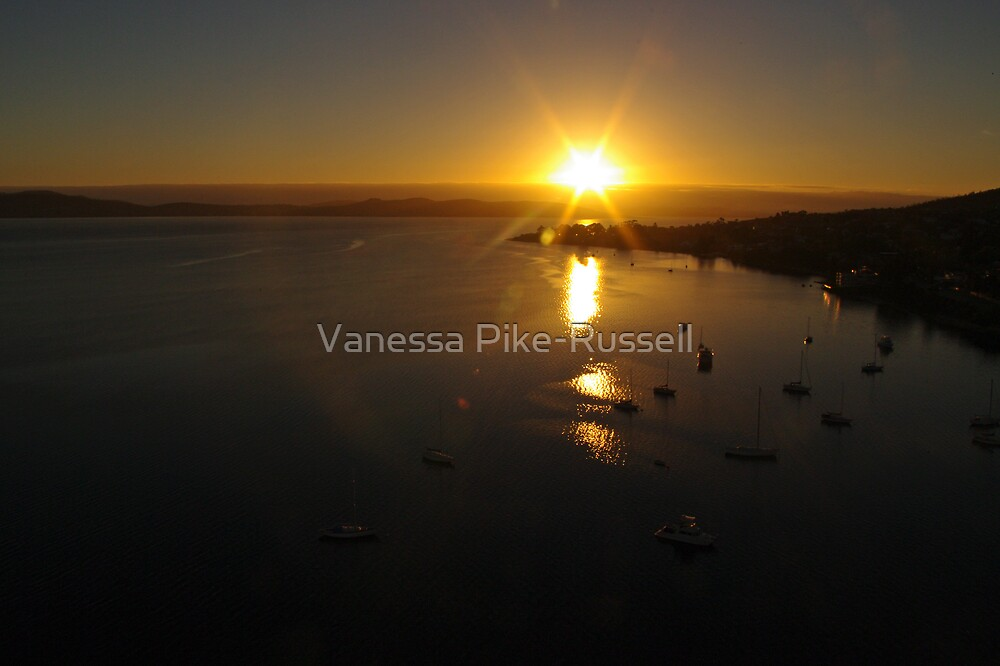Waterscape: View of Hobart harbour, Tasmania by Vanessa Pike-Russell