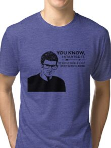 Hipster Angel Tri-blend T-Shirt