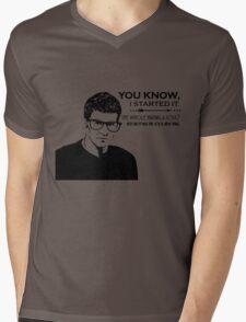 Hipster Angel Mens V-Neck T-Shirt