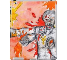Red Painted Fight iPad Case/Skin
