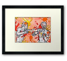 Red Painted Fight Framed Print