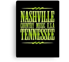 Nashville  Tennessee Country Music  Canvas Print