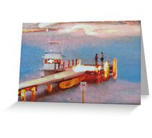 """""""Chatting at the jetty"""" Greeting Card"""