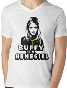 Buffy Is My Home Girl Mens V-Neck T-Shirt