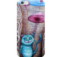 down the rabbits hole  iPhone Case/Skin