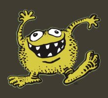 Cute Cartoon Yellow Monster by cheerfulmadness