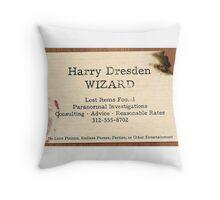 Harry dresden cards Throw Pillow