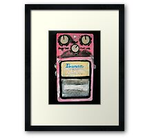 Ibanez Analogue Delay Acrylics On Canvas Board Framed Print