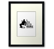 Less Is More Silhouette Mies Van Der Rohe Architecture Tshirt Framed Print