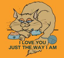 I Love You Funny Cat Graphic Saying by ironydesigns