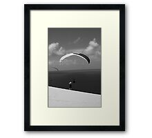 Leaping From The Dune Framed Print