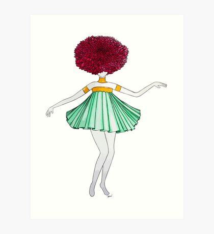 Flower Girl : Dahlia Art Print