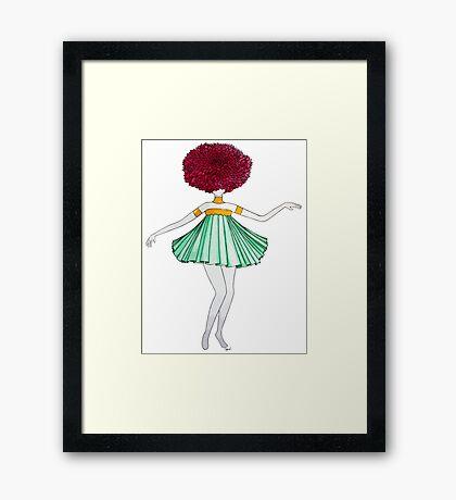 Flower Girl : Dahlia Framed Print