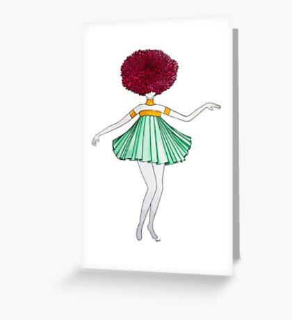 Flower Girl : Dahlia Greeting Card