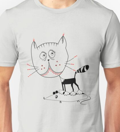 Kitty cat mouse  Unisex T-Shirt