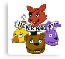 Five Nights at Freddy's - NEVER FORGOTTEN (unlit eyes version) Canvas Print