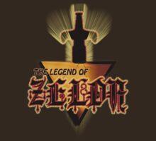 Zelda Logo Tee by BluAlien