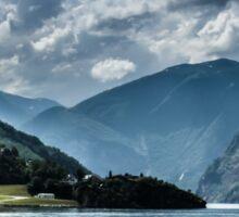 Beautiful fjords in Norway Sticker