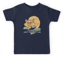 I Love You Funny Cat Graphic Saying Kids Tee