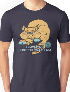 I Love You Funny Cat Graphic Saying Unisex T-Shirt