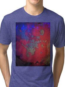 Pink & Purple liquid light art Tri-blend T-Shirt