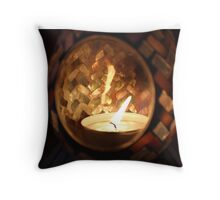 Pretty Candle Throw Pillow