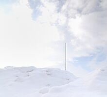 Metal pole in the snow by Aneurysm