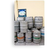 Beer barrels Canvas Print