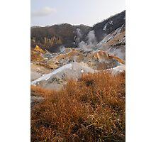 Hotspring in Hokkaido Japan Photographic Print