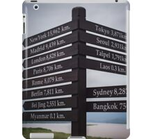 Directions sign - Golden Triangle iPad Case/Skin