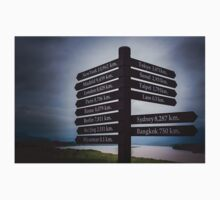 Directions sign - Golden Triangle T-Shirt