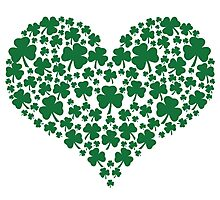Shamrock Heart Photographic Print