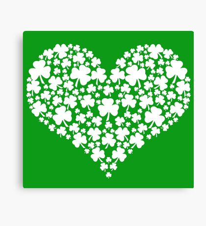 Shamrock Heart Canvas Print