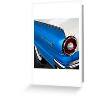 1957 Ford Fairlane 500, Tail Light View Greeting Card