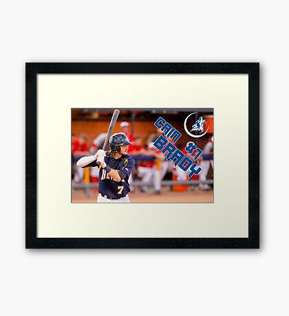 Cain Brady, CSN, Baseball Framed Print