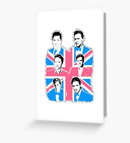 British men Greeting Card