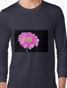Soft Pink Gerbera Daisy Long Sleeve T-Shirt