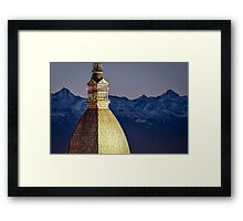 Turin (Torino), Mole Antonelliana at twilight Framed Print