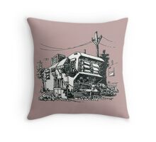 Old mobile home Throw Pillow
