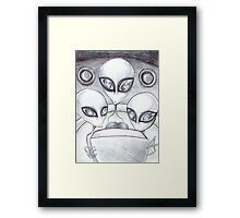 Alien Abductee trip Framed Print