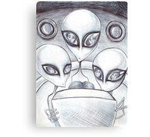 Alien Abductee trip Canvas Print