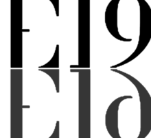 The 1975 Reflected Logo Sticker
