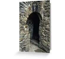 Cubicle in lavatory Ruins of abbey Rievaulx North Yorkshire England 198406020077 Greeting Card
