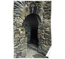 Cubicle in lavatory Ruins of abbey Rievaulx North Yorkshire England 198406020077 Poster
