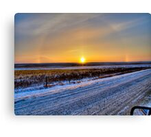 Minus 30 on The Prairie Canvas Print