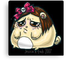 Sad kawaii hamsterpuff Canvas Print