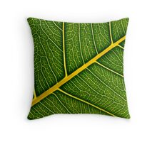 Leafy avenues Throw Pillow
