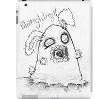 Spooky cute ghost bunny iPad Case/Skin
