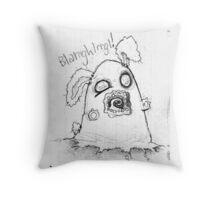 Spooky cute ghost bunny Throw Pillow